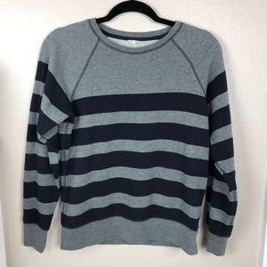 J. Crew Striped Pullover Sweatshirt Size S